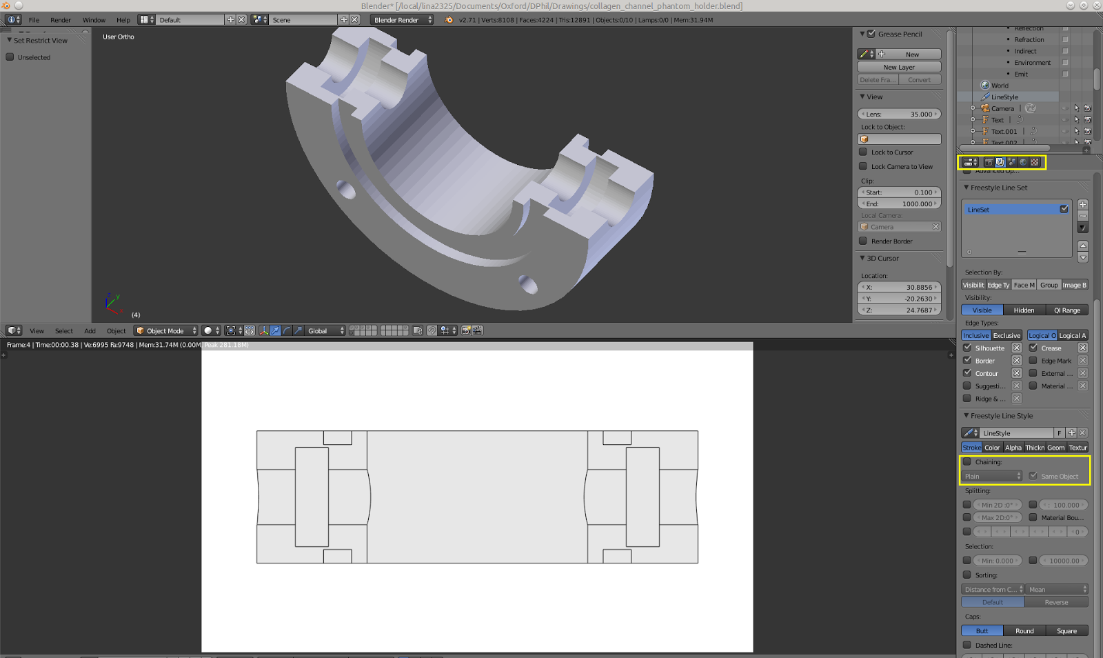 Journey's End: Producing Technical Drawings In Blender