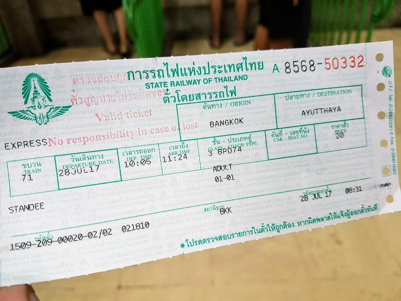火車票,注意 Seat 是空白的,表示無座位票