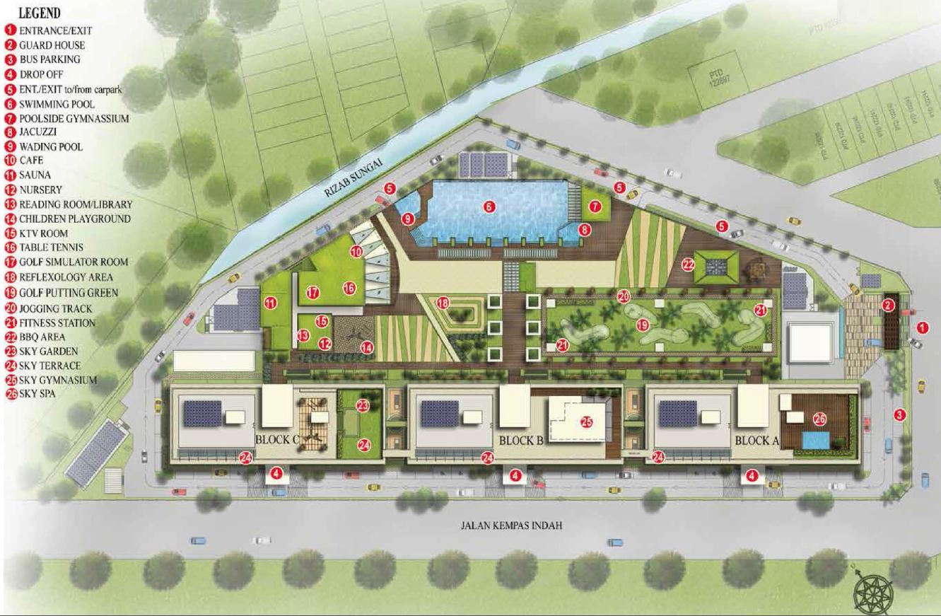 D'Secret Garden @ Kempas Indah Site Plan