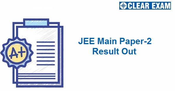 JEE Main Paper-2 Result