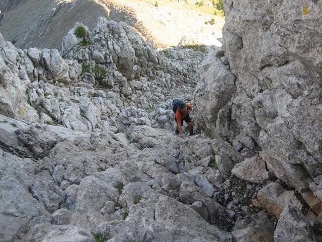 Pedraforca. Grimpant en direcció al Coll del Verdet