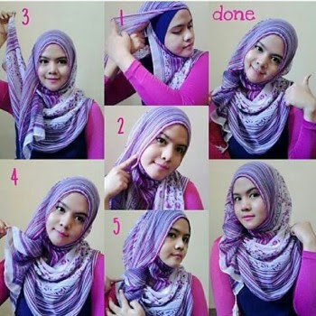 Cara Memakai Jilbab Segi Empat ke Kampus