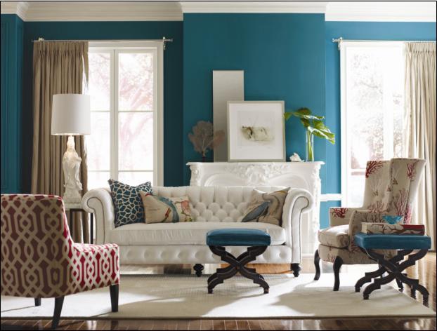 The Houston House Peacock Blue
