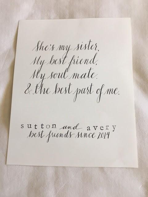 Lindsay Gilligraphy Sisters
