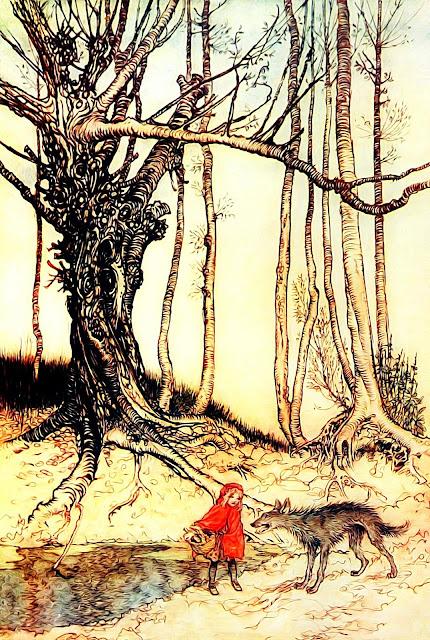 czerwony kapturek w lesie spotyka wilka leganda bajka znaczenie wilk