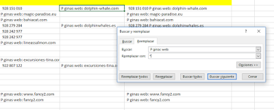 "Figura 16: Convertimos la etiqueta P gina web en un separador ""*""."