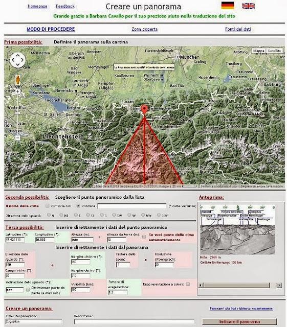 Simulatore digitale di Panorami realizzato dal Dottor Ulrich Deuschle