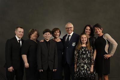NASCAR Hall of Fame inductee Mark Martin and family during the NASCAR Hall of Fame Class of 2017 Induction Ceremony at NASCAR Hall of Fame on January 20, 2017 in Charlotte, North Carolina.