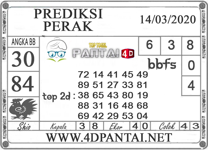 PREDIKSI TOGEL PERAK PANTAI4D 14 MARET 2020