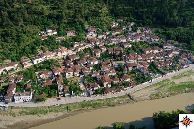 Berat, Gorica vista dal castello