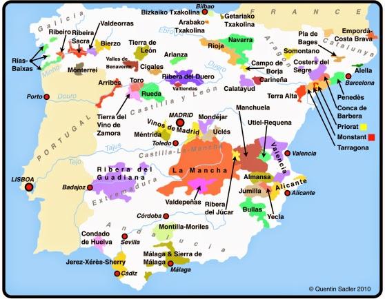 Vinho Moda Mapa Do Vinho Espanha
