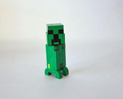 mobs de minecraft hecho con ladrillos de juguete