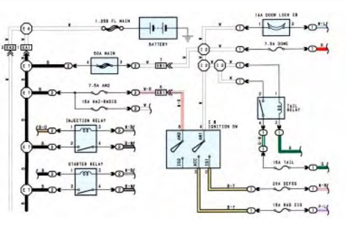 land cruiser door lock wiring diagram 1996 1996 toyota land cruiser electrical wiring diagram wiring  1996 toyota land cruiser electrical