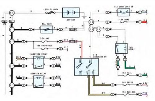 1996 toyota land cruiser electrical wiring diagram  wiring