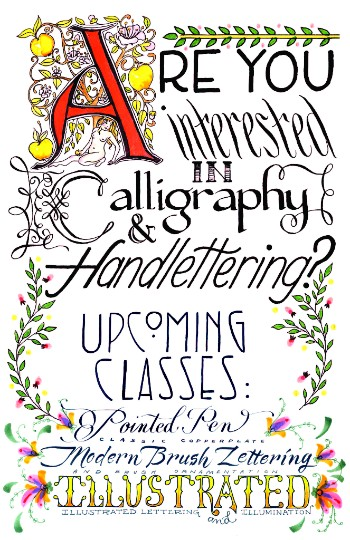 Oregon Society Of Artists Calligraphy Class With Nicole Poole