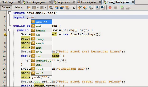 Cara Menampilkan Syntax Otomatis Java Netbeans