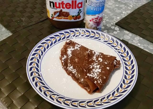 crepes vegan al cioccolato e nutella
