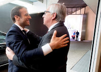 Emmanuel Macron and Jean Claude Juncker