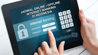 Jadwal Online / Offline Internet Banking Bank Di Indonesia