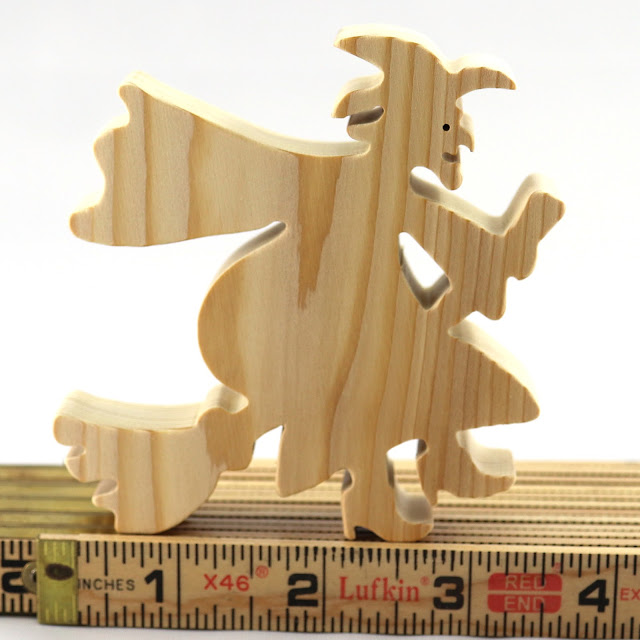 Handmade Wooden Witch Cutout/Toy