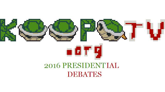 KoopaTV 2016 Presidential Debates logo banner Republican Democratic primaries