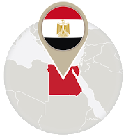 Egyptian flag and map
