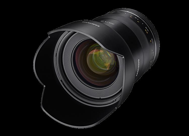 Samyang XP 35mm f/1.2, вид спереди