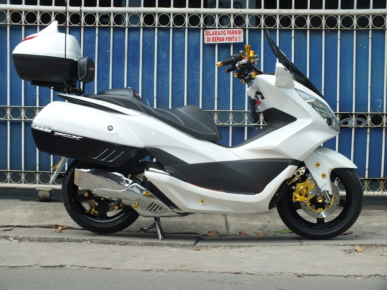 Ngecat MOTOR Honda Pcx All New Modifikasi POLICE STYLE Pesanan Mr