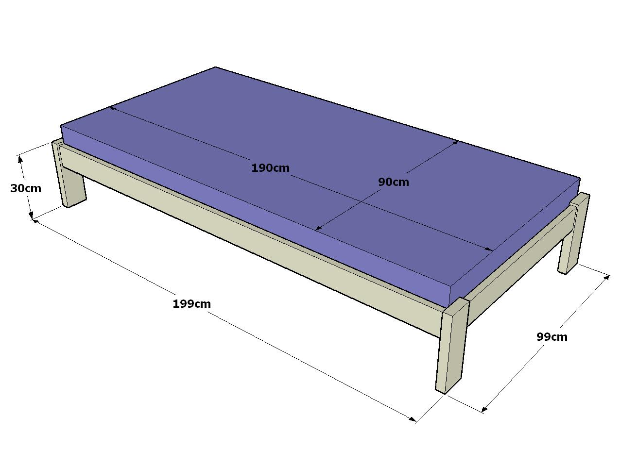 Mis proyectos de herrer a for Dimensiones cama nido