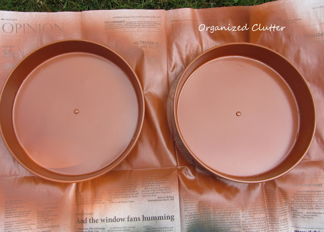 Spray Painted Layer Cake Pans from a Thrift Shop
