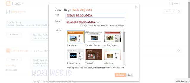 Membuat blog blogspot.