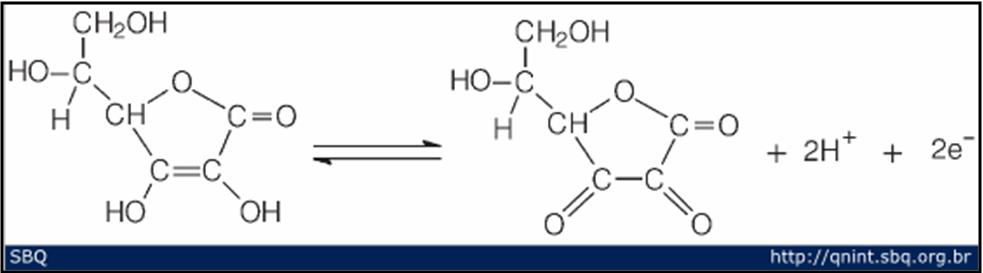 oxidação acido ascorbico acido dehidroascorbico
