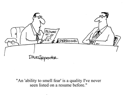 Weisrd Skillset in Resume Funny Cartoons