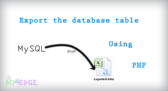 Export the MySQL database table as CSV format using PHP | 2my4edge