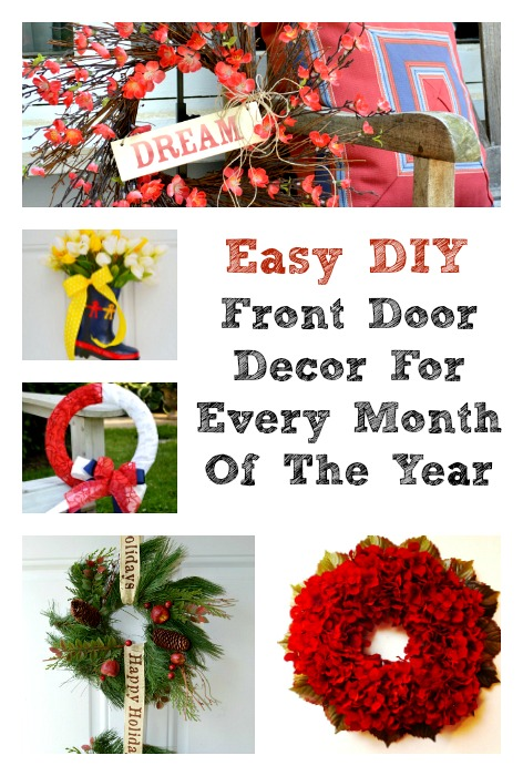Twelve Months Of Front Door Decor
