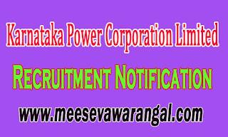 Karnataka Power Corporation Limited KPCL Recruitment Notification 2016