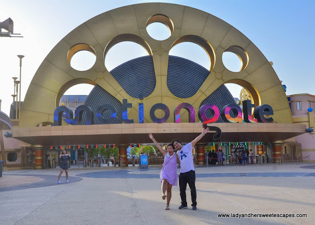 Ed and Lady in Motiongate Dubai Theme Park