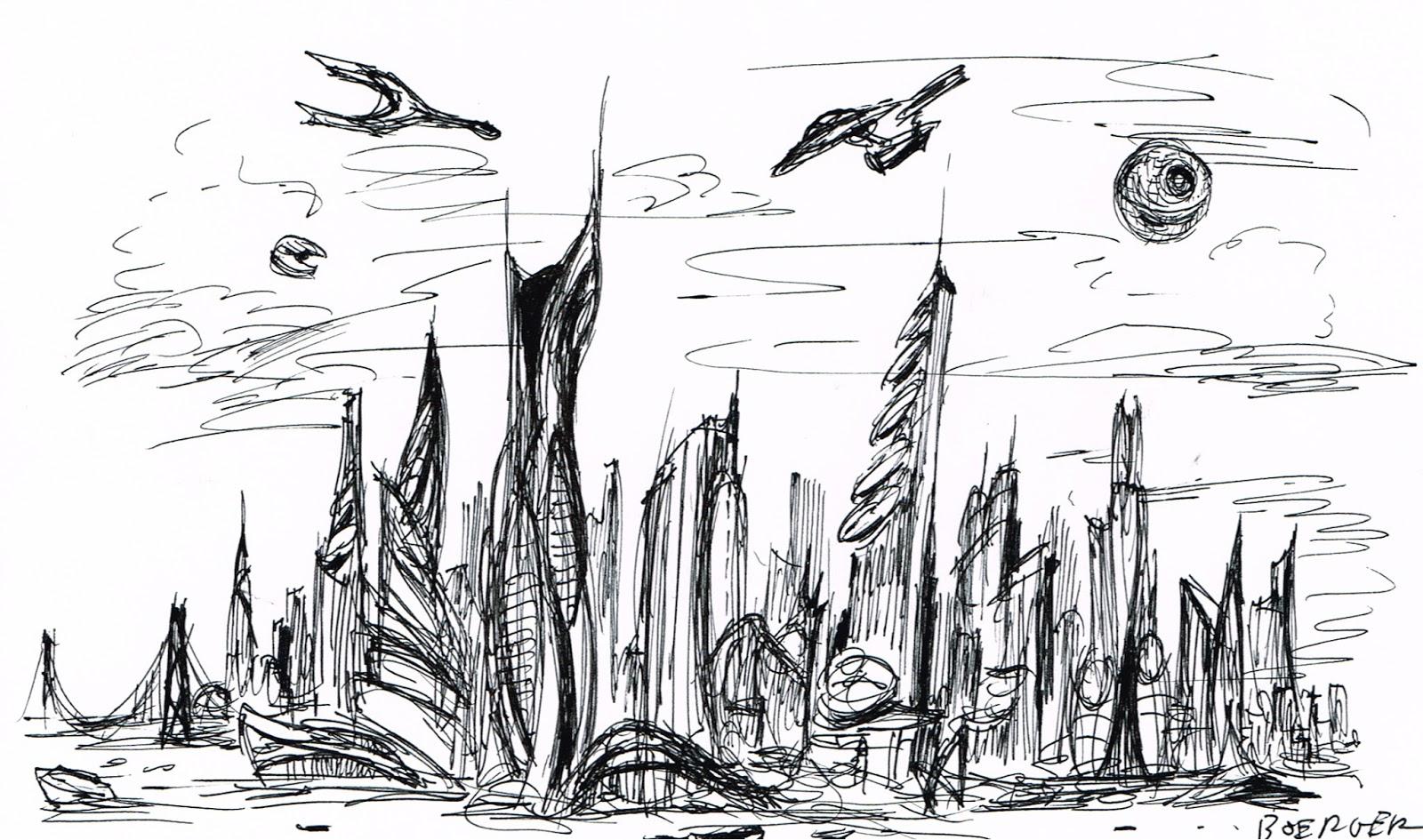 Andy S Art Futuristic Cityscape