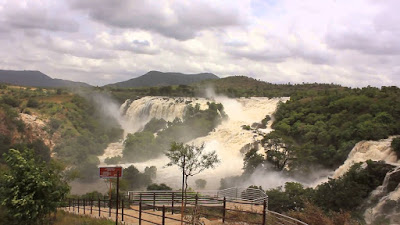 best water falls in India Shivanasamudra Falls