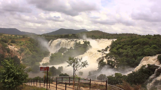 best water falls in India Shivanasamudra Falls