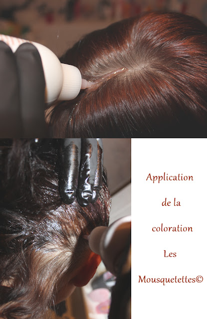 application de la coloration color et soin laboratoire les 3 chnes les mousquetettes - Les 3 Chenes Coloration