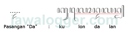 aksara pasangan da dalam penulisan jawa