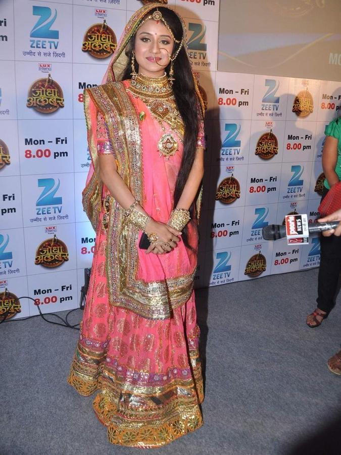 Paridhi Sharma Photos In Pink Saree From Jodhaa Akbar