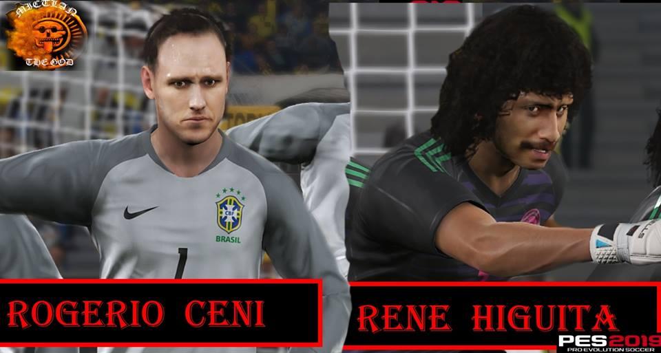 PES 2019 Rogerio Ceni & Rene Higuita Facepack by