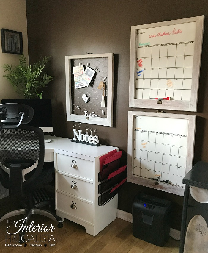 Old Windows Dry Erase Calendars Plus Note Board