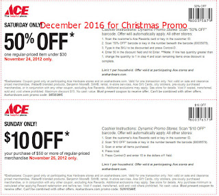 Ace Hardware coupons for december 2016