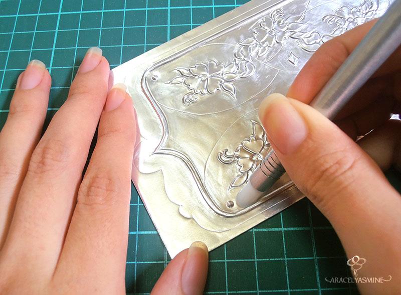 el esfumino herramienta repujado en aluminio basico