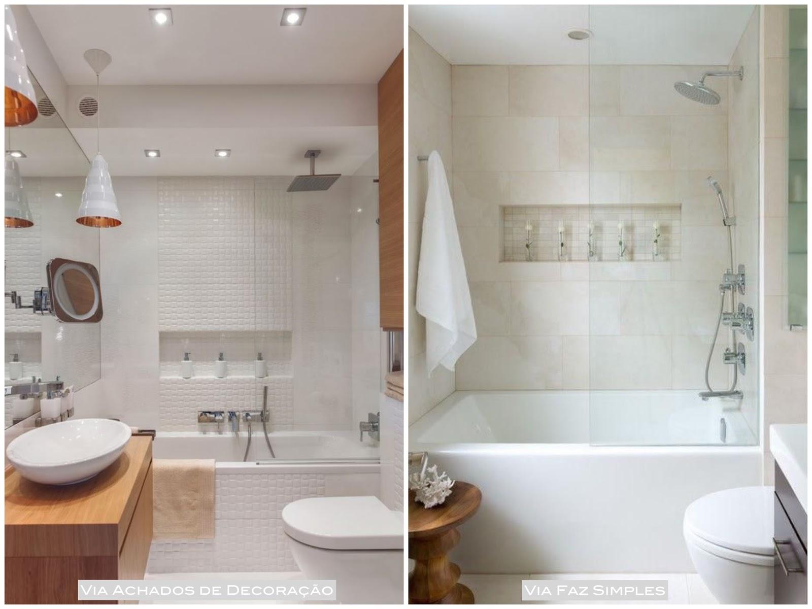Arquivos Banheiro e Lavabo Casa Pensada -> Decoração Banheiro Pequeno Com Banheira