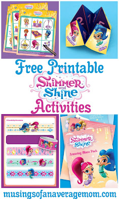free printable shimmer and shine activities