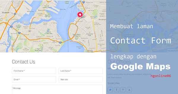 membuat laman contact form dengan google maps